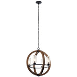 Grand Bank Outdoor 4-Light Chandelier