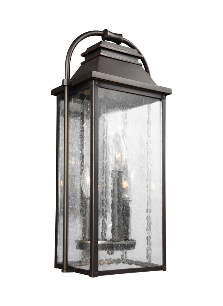 Wellsworth Outdoor Lighting in Antique Bronze with Clear Seeded  Glass
