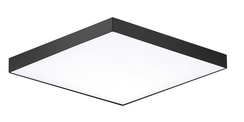 "Trim 6.5"" SQ LED Flush Mount 3000K in Black - Lamps Expo"