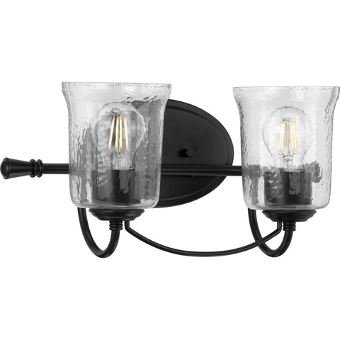 Bowman Collection Black 2-Light Bath Sconce