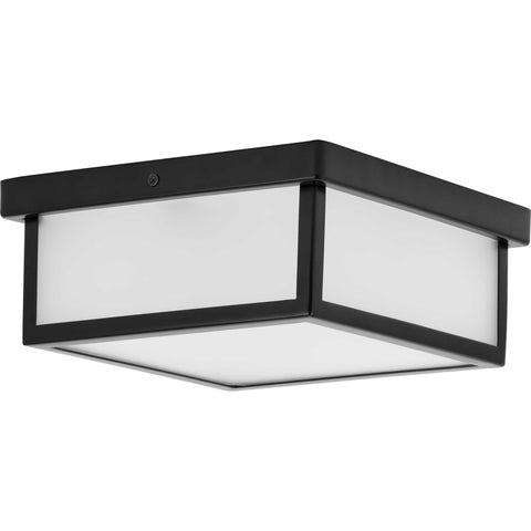 "Box LED Black 1-Light 10"" LED Flush Mount"