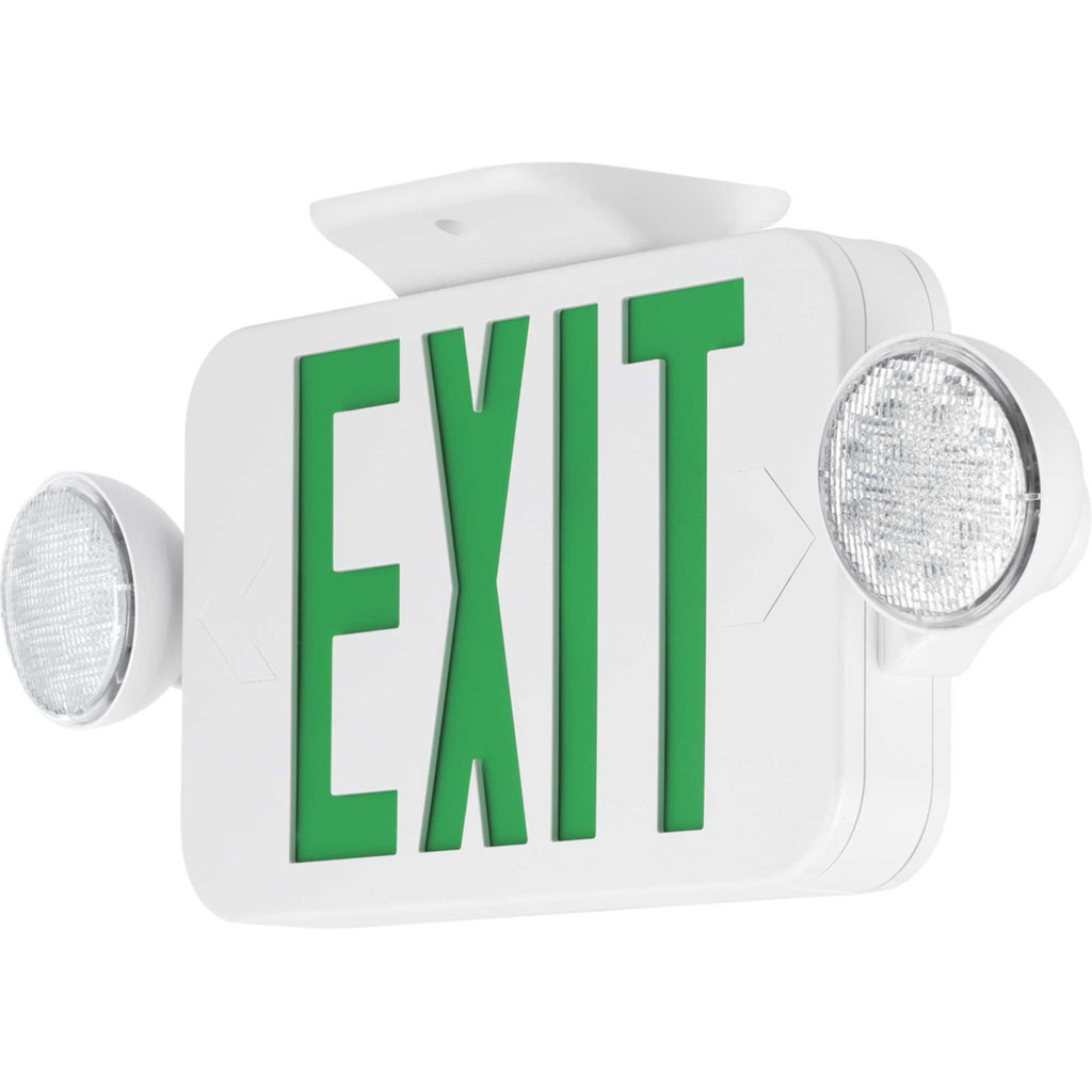 LED Combination Exit/Emergency Light with Green