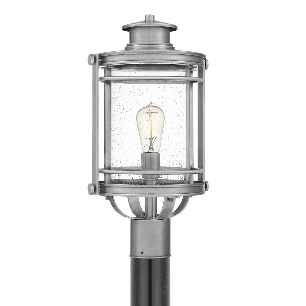 Booker 1-Light Outdoor in Industrial Aluminum