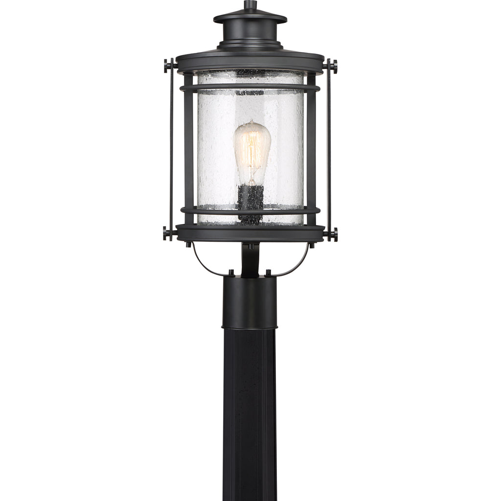 Booker 1-Light Outdoor in Mystic Black