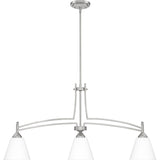 Billingsley 3-Light Island Light in Brushed Nickel