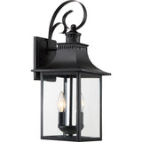Chancellor 2-Light Outdoor in Mystic Black