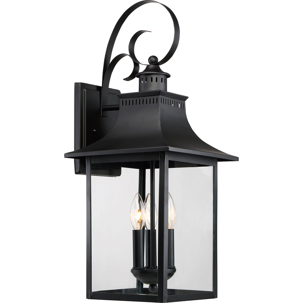 Chancellor 3-Light Outdoor in Mystic Black