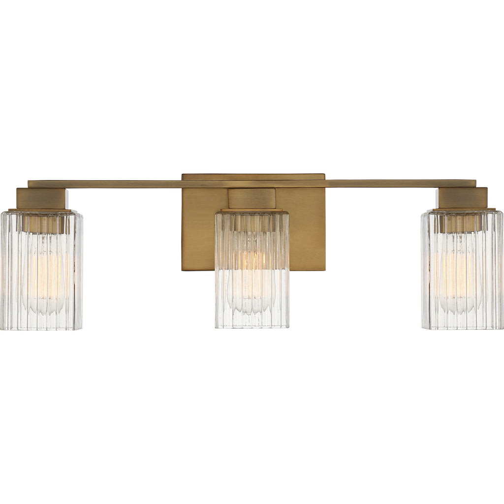Danson 3-Light Bath in Weathered Brass