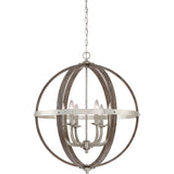 Fusion 6-Light Pendant in Brushed Nickel