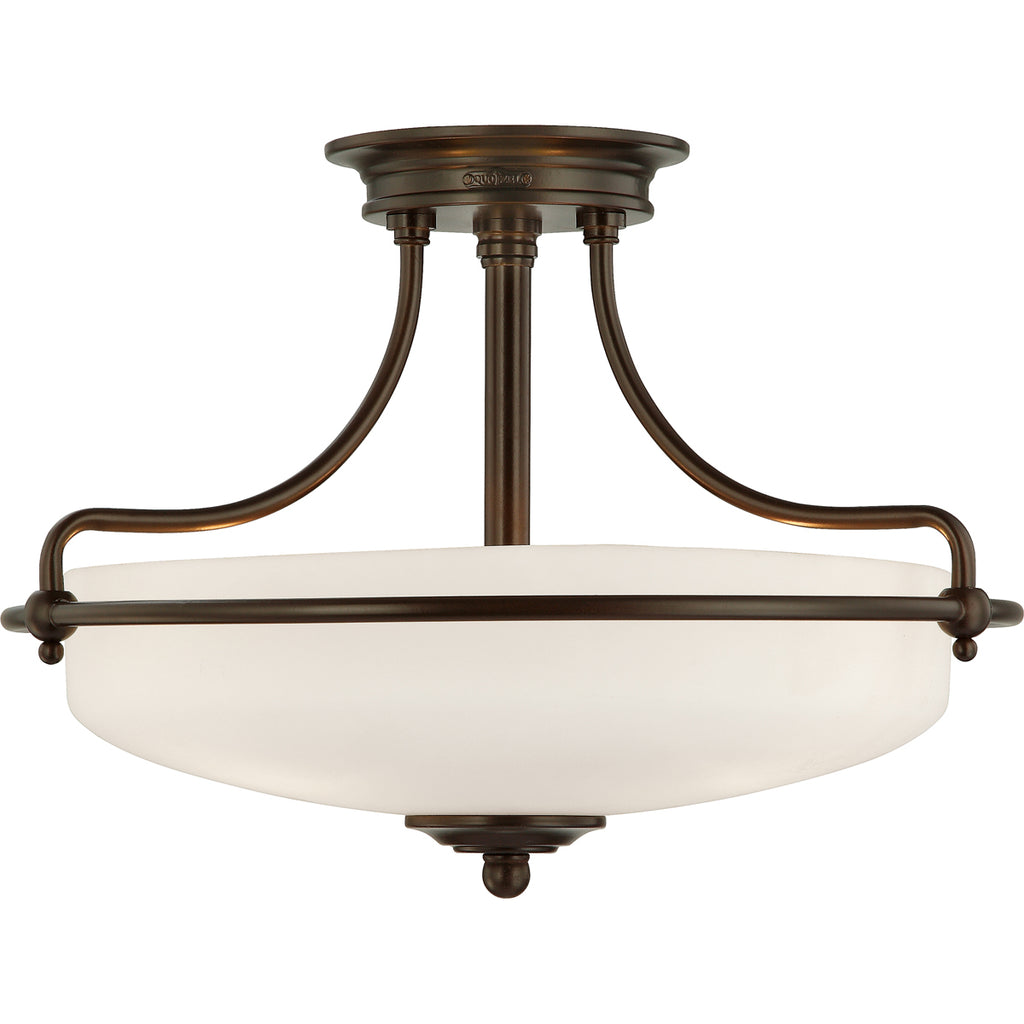 Griffin 3-Light Semi-Flush Mount in Palladian Bronze