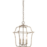 Gallery 3-Light Pendant in Century Silver Leaf