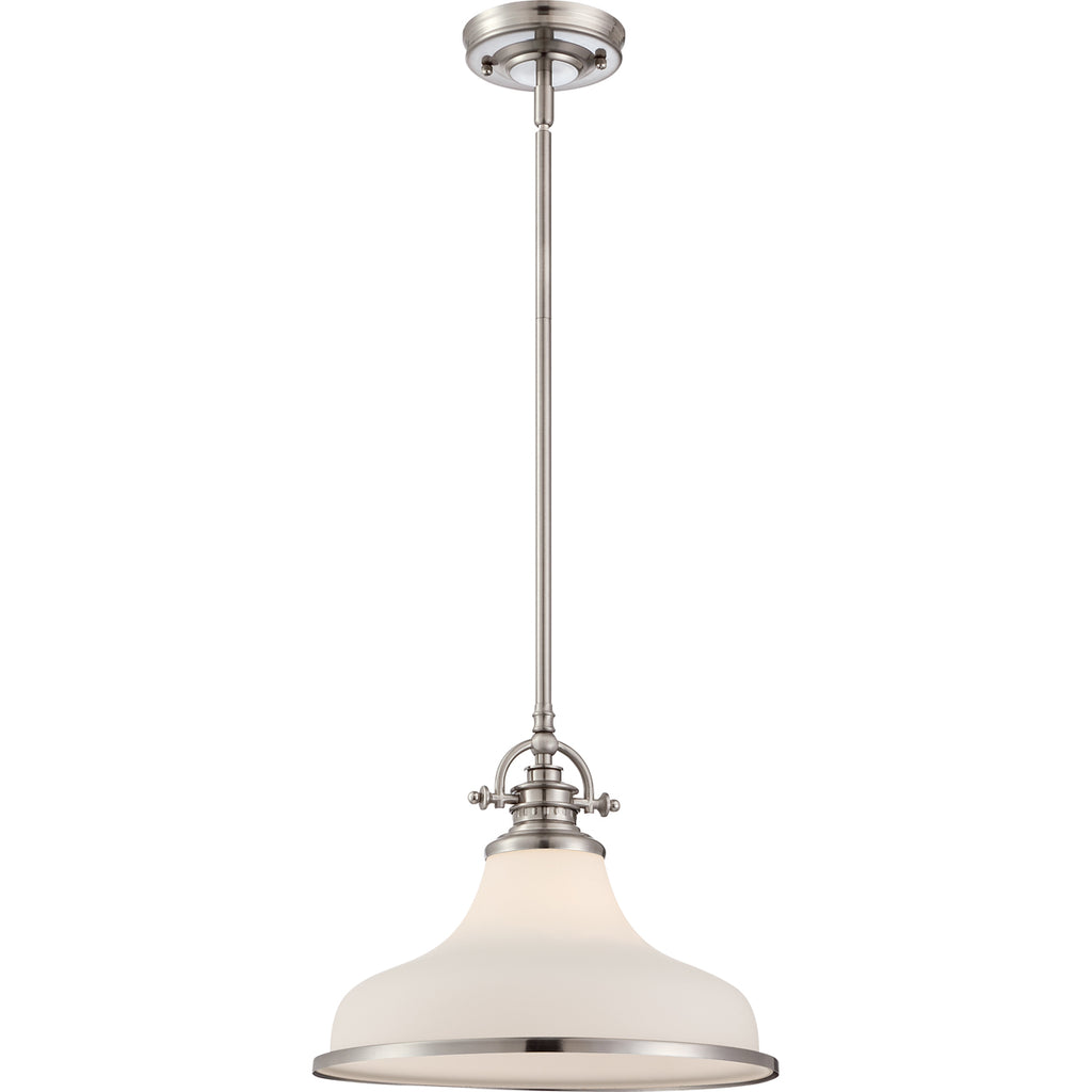 Grant 1-Light Pendant in Brushed Nickel