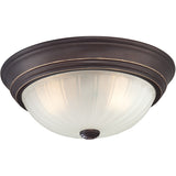 Melon 2-Light Flush Mount in Palladian Bronze