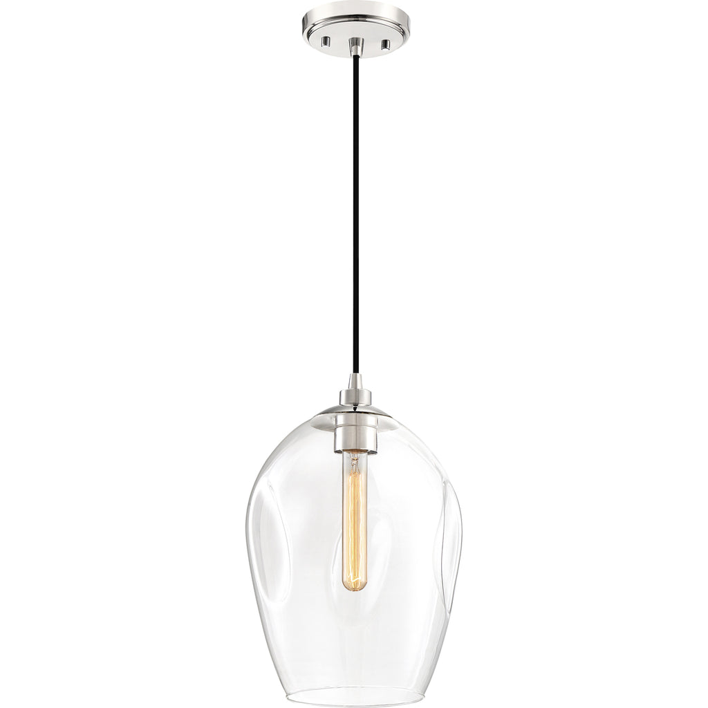 Nostalgia 1-Light Mini Pendant in Polished Nickel