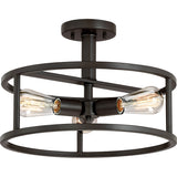 New Harbor 3-Light Semi-Flush Mount in Western Bronze