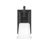 Nicholas 1-Light Wall Sconce in Earth Black