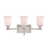 Nicholas 3-Light Bath in Brushed Nickel
