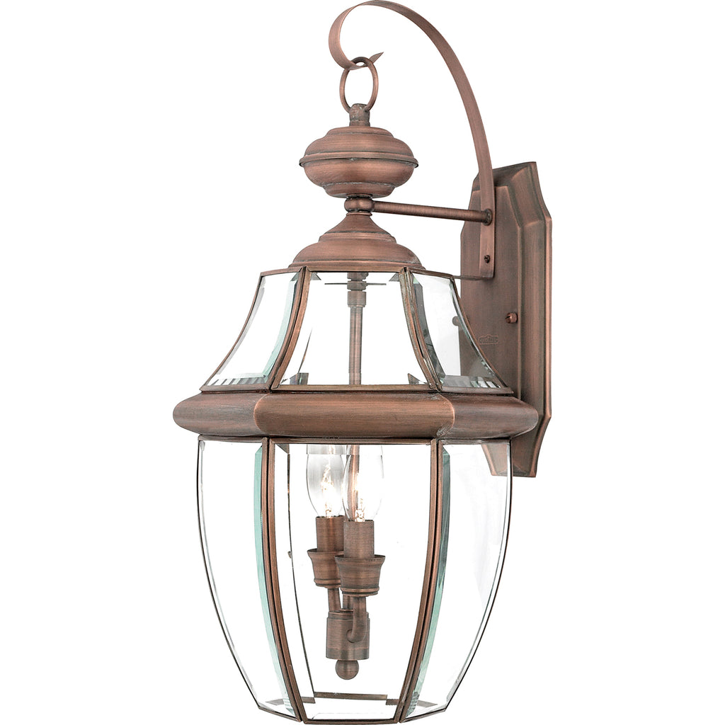 Newbury 2-Light Outdoor in Aged Copper