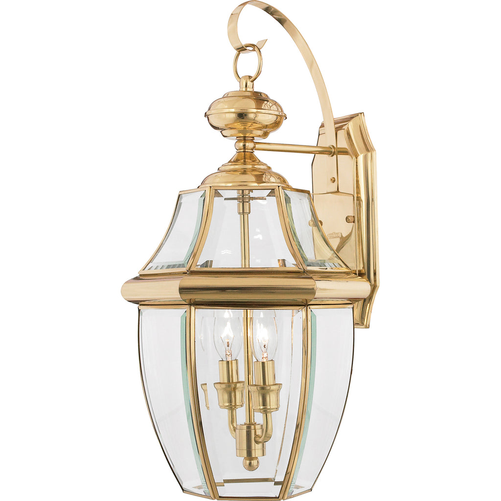Newbury 2-Light Outdoor in Polished Brass