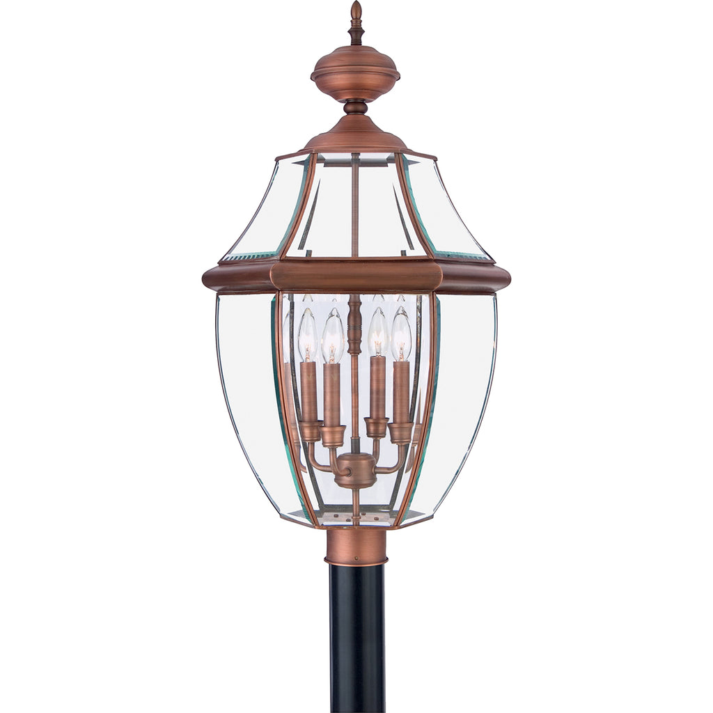 Newbury 4-Light Outdoor in Aged Copper