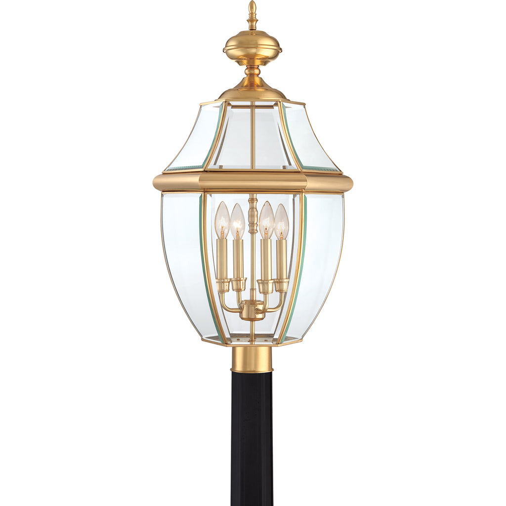 Newbury 4-Light Outdoor in Polished Brass