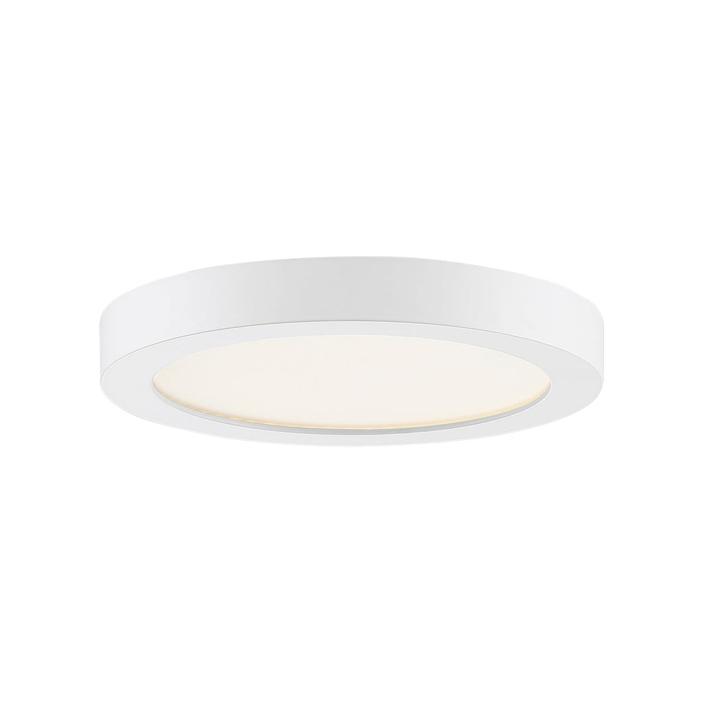 Outskirts Flush Mount in White Lustre