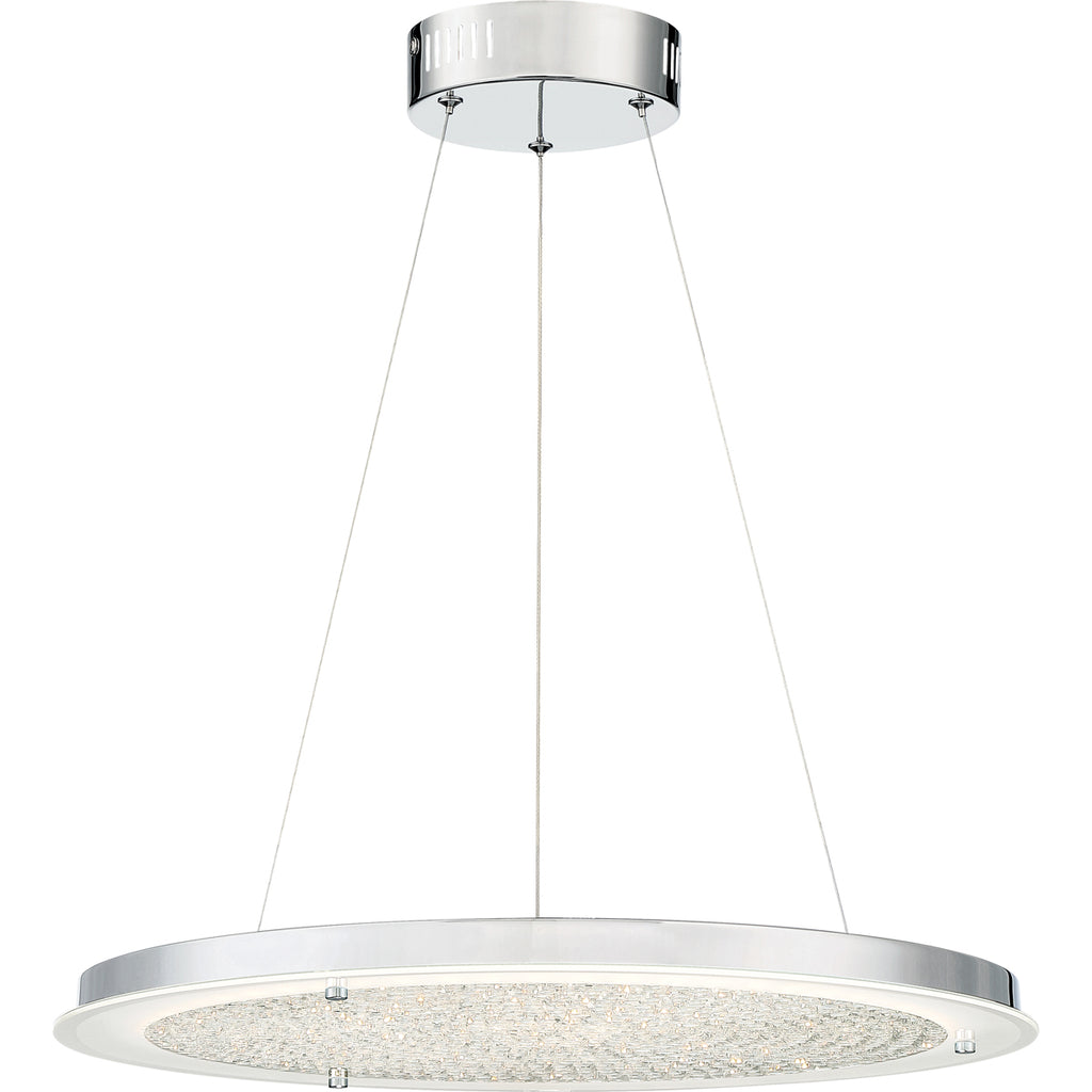 Blaze LED Pendant in Polished Chrome