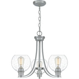 Pruitt 3-Light Chandelier in Brushed Nickel