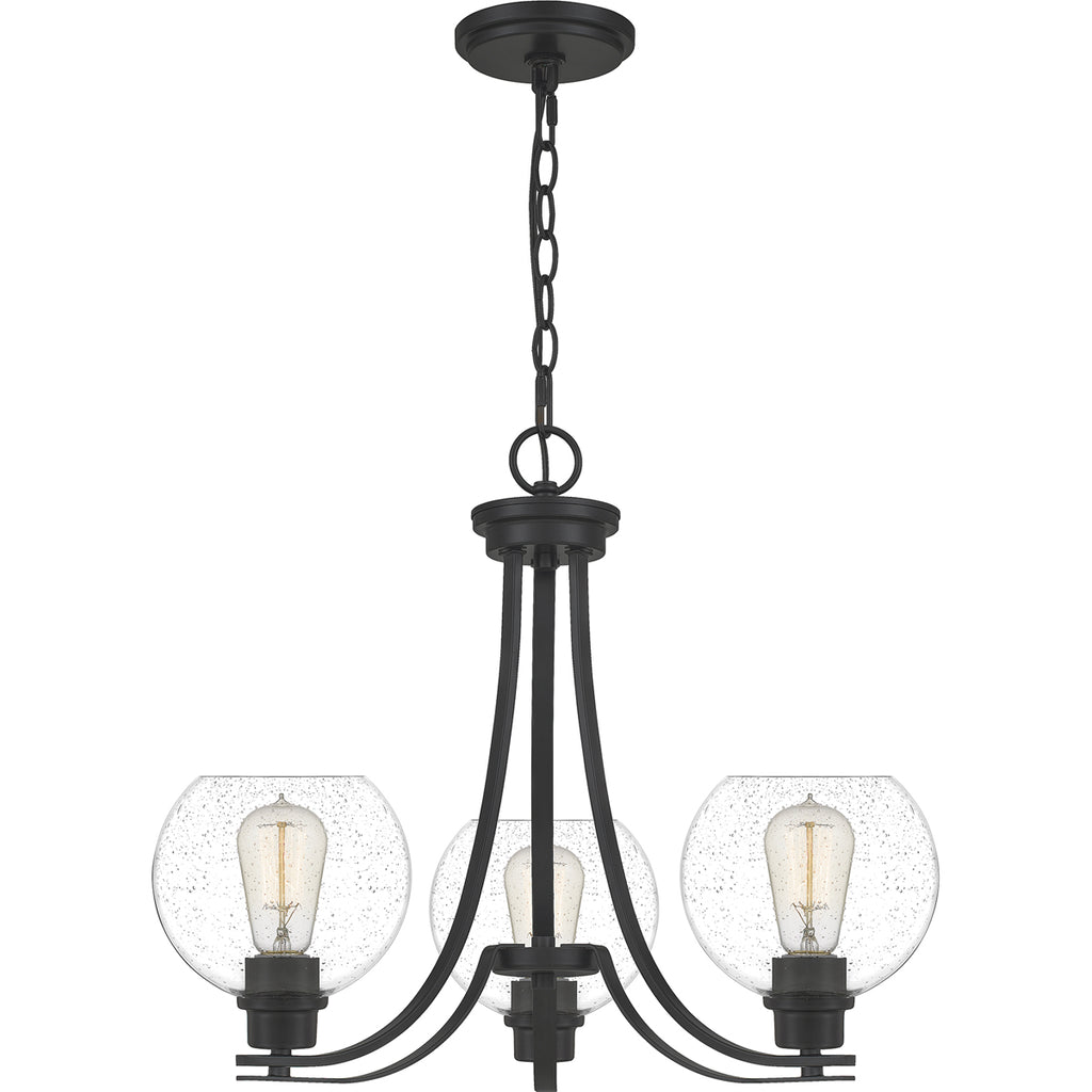 Pruitt 3-Light Chandelier in Matte Black