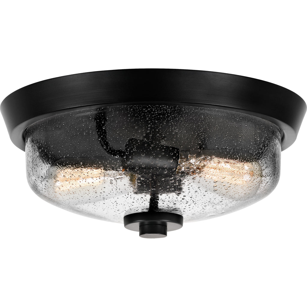 Radius 2-Light Flush Mount in Earth Black
