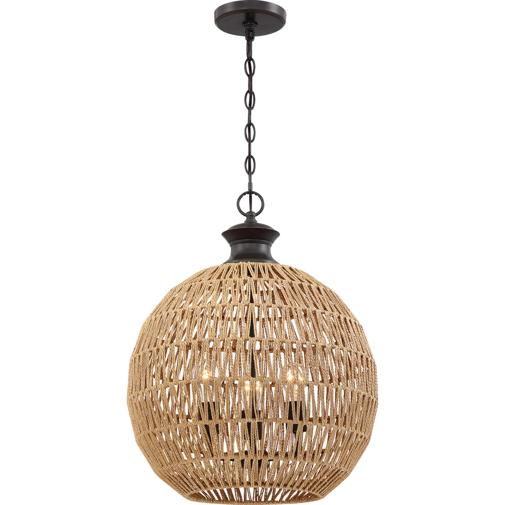 Casablanca 3-Light Pendant in Palladian Bronze