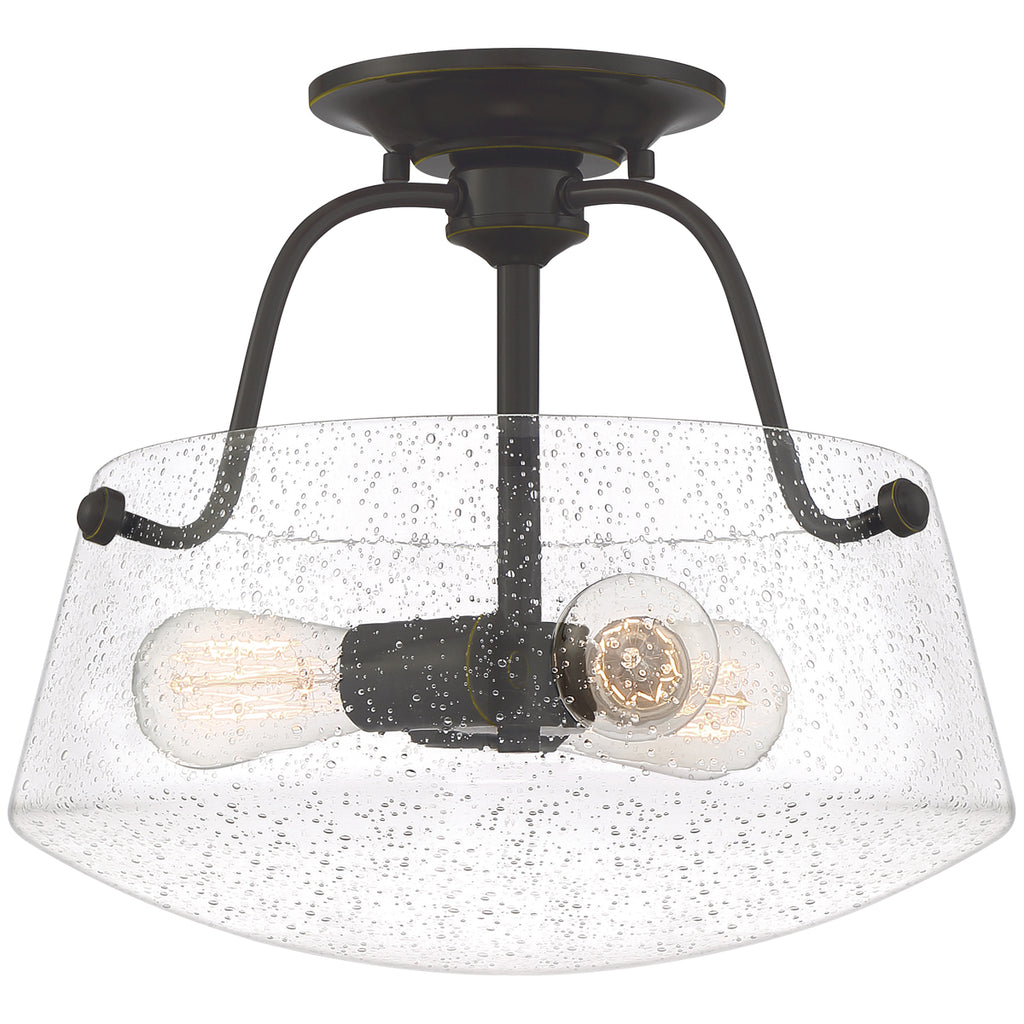 Scholar 3-Light Semi-Flush Mount in Palladian Bronze