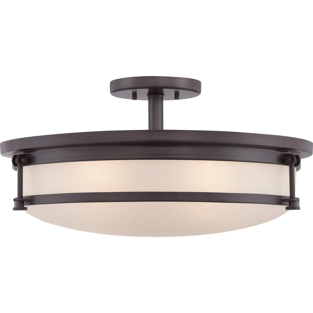 Sailor 5-Light Semi-Flush Mount in Western Bronze