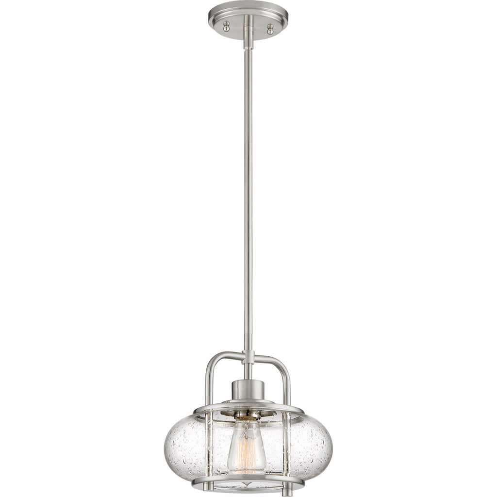 Trilogy 1-Light Mini Pendant in Brushed Nickel