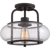 Trilogy 1-Light Semi-Flush Mount in Old Bronze