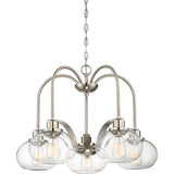 Trilogy 5-Light Chandelier in Brushed Nickel