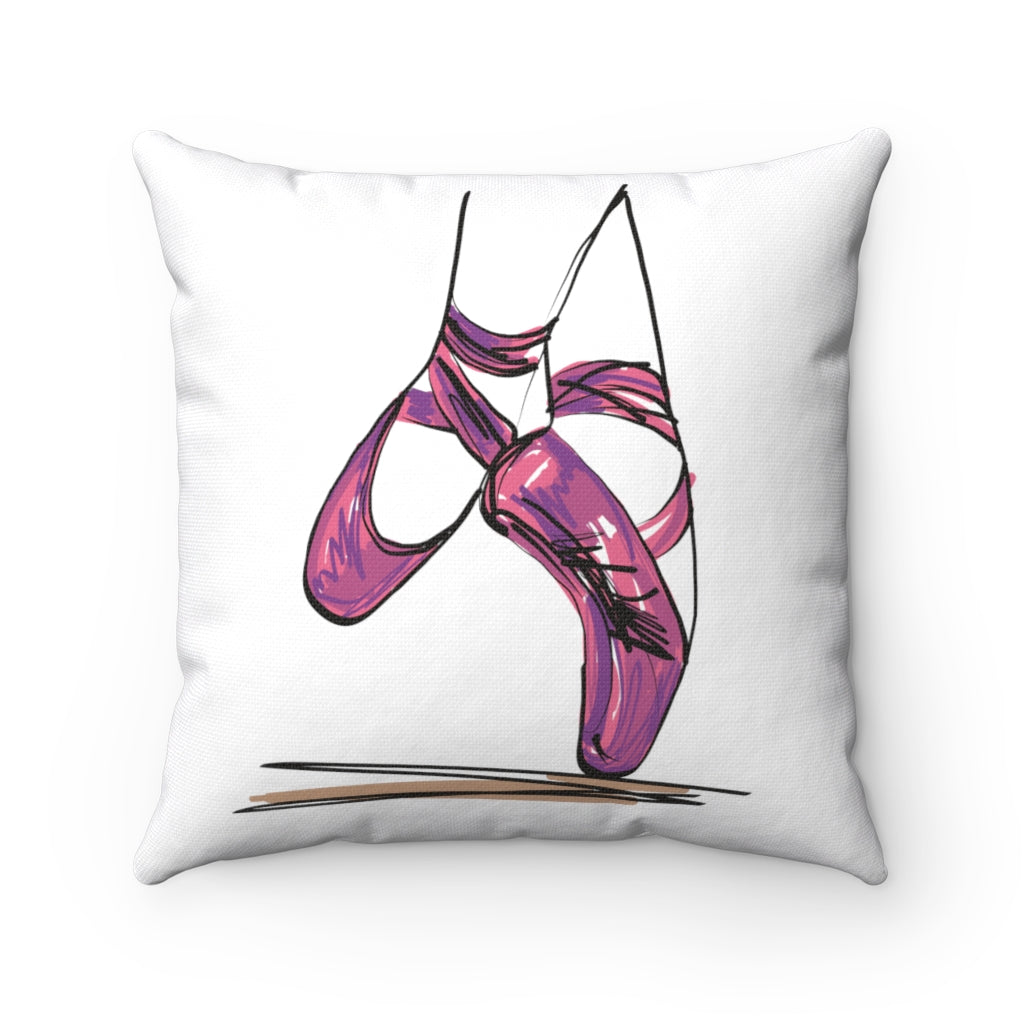 Ballet Pointe Shoes Square Pillow