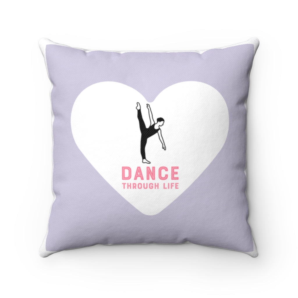 Dance Through Life Square Pillow