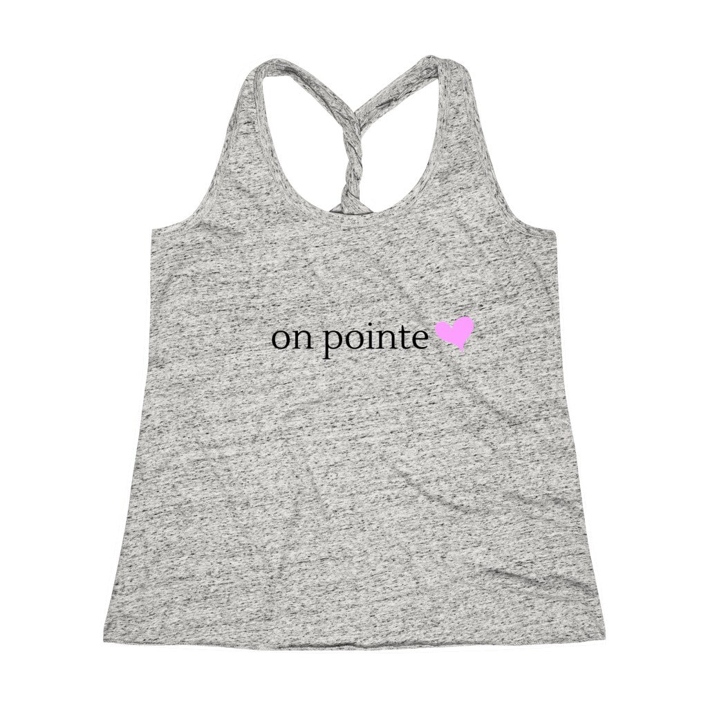 Ballet On Pointe Twist Back Tank Top