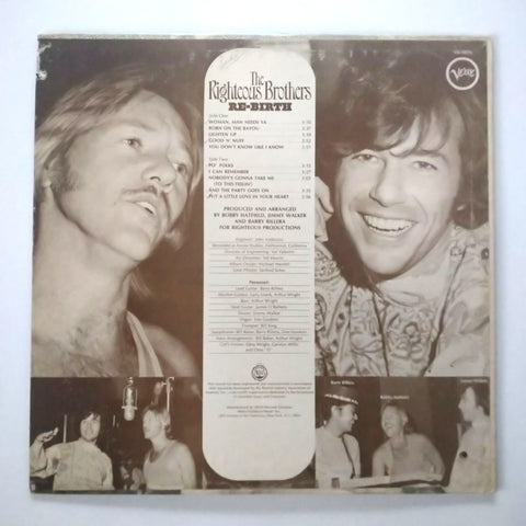 "The Righteous Brothers Re-Birth 12"" LP Vinyl V6-5076 STEREO"