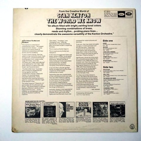"Stan Kenton And His Orchestra ‎– The World We Know 12"" LP Vinyl Record"