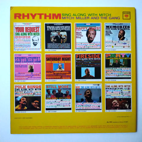 "Mitch Miller And The Gang ‎– Rhythm / Sing Along With Mitch 12"" LP Vinyl Record"
