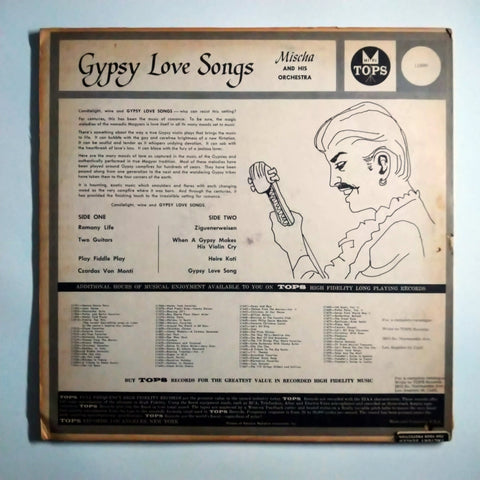 "Mischa And His Orchestra ‎– Gypsy Love Songs 12"" LP Vinyl Record"