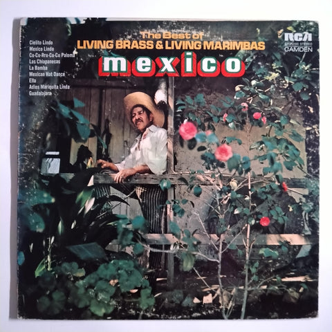 "Living Brass / Living Marimbas ‎– Mexico 12"" LP Vinyl Record"