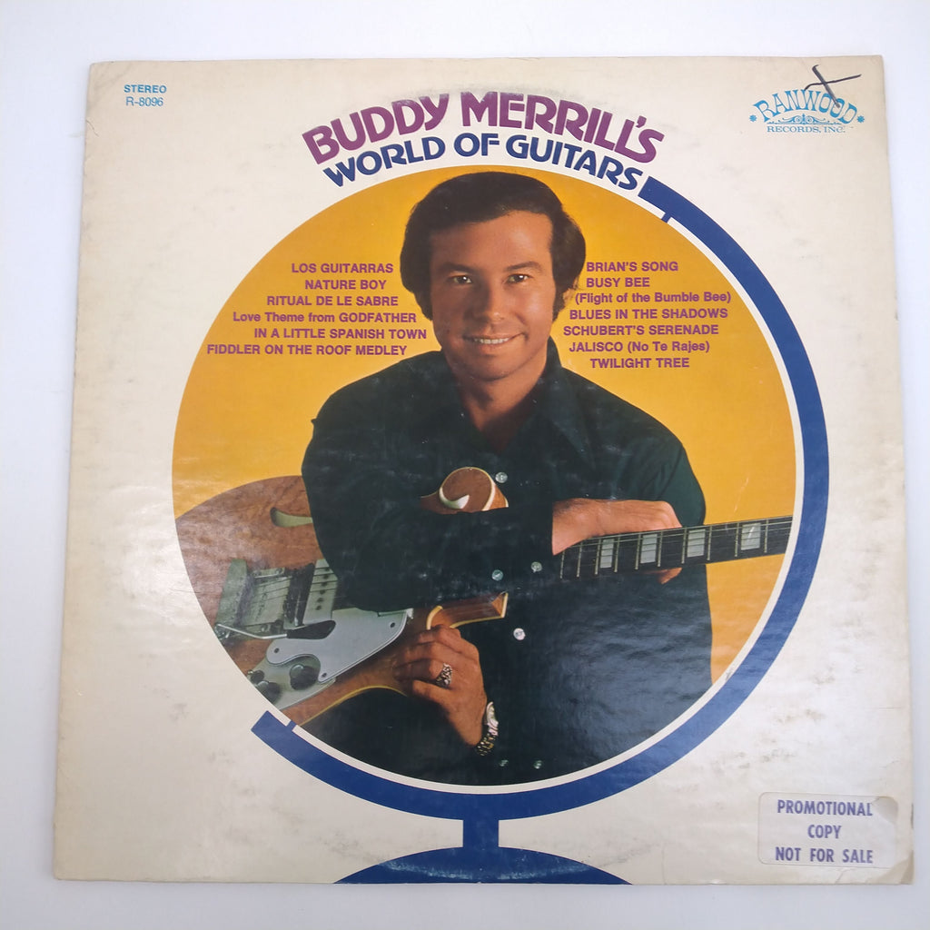 "Buddy Merrill ‎– Buddy Merrill's World Of Guitars 12"" LP Vinyl Record R-8096"
