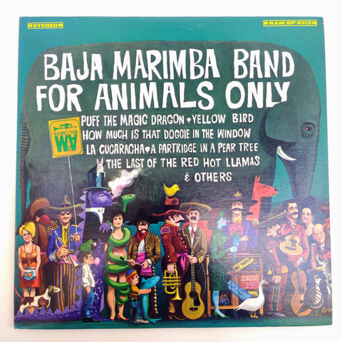 "Baja Marimba Band ‎– For Animals Only 12"" LP Vinyl Record"
