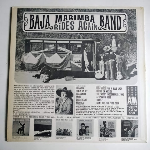 "Baja Marimba Band ‎– Rides Again 12"" LP Vinyl Record SP 4109"