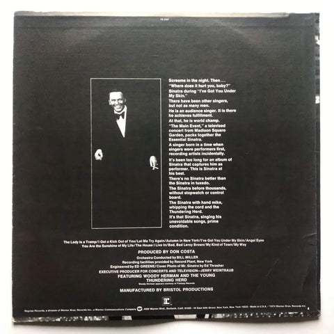 "Frank Sinatra ‎– The Main Event (Live) 12"" Vinyl Record LP FS 2207"