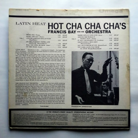 "Francis Bay And His Orchestra - Latin Heat Cha-Cha-Cha OSL-44 12"" LP Vinyl Record"