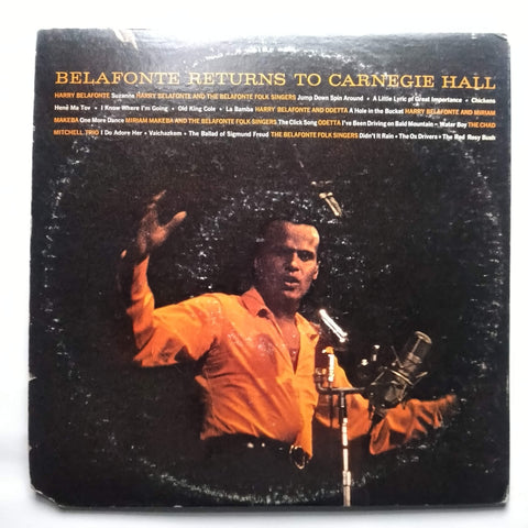 "Harry Belafonte ‎– Belafonte Returns To Carnegie Hall LSO-6007 12"" LP Vinyl Record"
